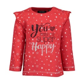 Blue Seven Longsleeve Super Happy Rood