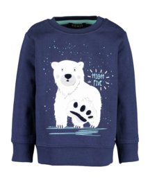 Blue Seven Sweatshirt HIGH FIVE in donkerblauw