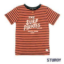 Sturdy T-shirt streep Antraciet