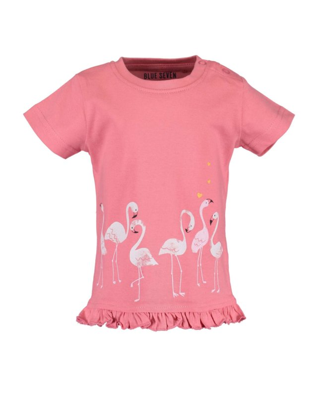 Blue Seven T-shirt Flamingo  Koraal
