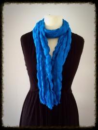 Katoenen twist sjaal koningsblauw TS-15