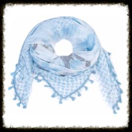 Sjaal Love & Peace Blauw