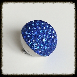 Verwisselbare Swarovski top - Blue 16mm