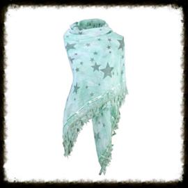 Sjaal Stars Bies Groen