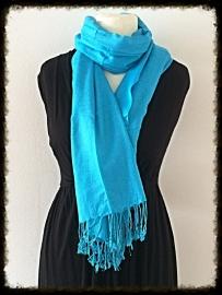 Viscose sjaal lichtblauw