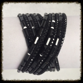 Wikkelarmband met strass WA-10