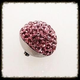 Verwisselbare Swarovski top - Pink 16mm