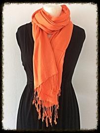 Viscose sjaal oranje