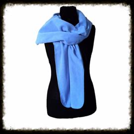 Fleece sjaal blauw