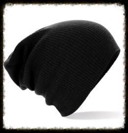 Unisex soft beanie black