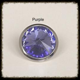 Verwisselbare Swarovski Tops - Purple