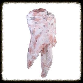 Sjaal Stars Roze