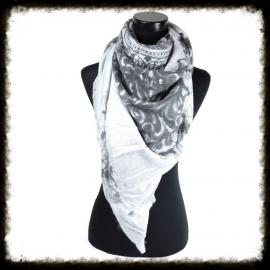 Vierkante sjaal met fantasieprint Grijs