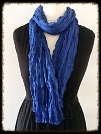 Katoenen twist sjaal donkerblauw TS-14