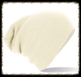 Unisex soft beanie white