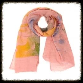 Sjaal  Roses Pink  KH-07