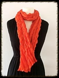 Katoenen twist sjaal oranje TS-12
