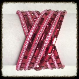 Wikkelarmband met strass WA-06