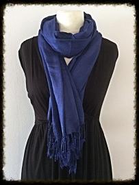 Viscose sjaal paars/blauw