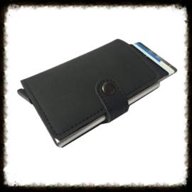 PU Leren mini portemonnee met pasjeshouder Black