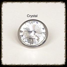 Verwisselbare Swarovski Tops - Crystal