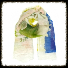 Sjaal  Roses White  KH-06