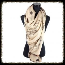Vierkante sjaal Ster/panter/stip/nautica