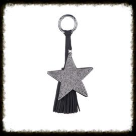 Sleutel/Tas Hanger  Zwart-Zilver
