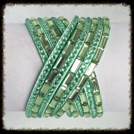 Wikkelarmband met strass WA-13
