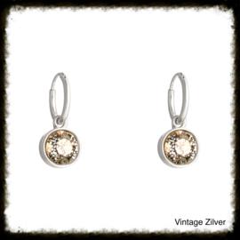 Oorbellen  Glamour Shine Vintage Zilver