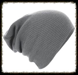 Unisex soft beanie grey
