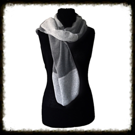 Fleece sjaal donker/licht grijs