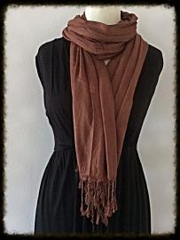 Viscose sjaal bruin