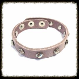 Lederen  Armband Lila