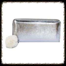 Portemonnee Glamour Zilver PG-01 (witte pompoen)