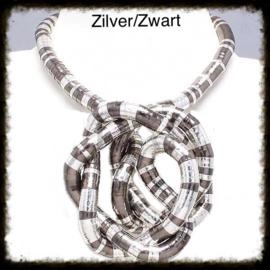 Flexibele Buigbare Ketting Zilver-Zwart