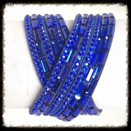 Wikkelarmband met strass WA-16