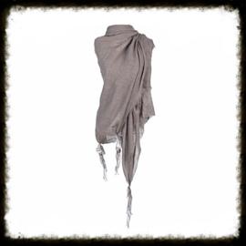 Sjaal met Kwastjes  (leverbaar in 5 kleuren)