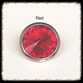Verwisselbare Swarovski Tops - Red