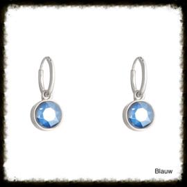 Oorbellen  Glamour Shine Blauw