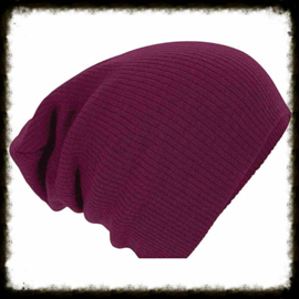 Unisex soft beanie bordeaux red