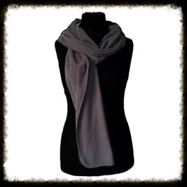 Fleece sjaal grijs