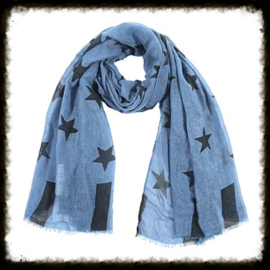 Sjaal Stars Blauw