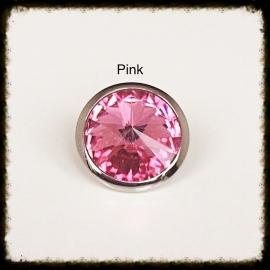 Verwisselbare Swarovski Tops - Pink