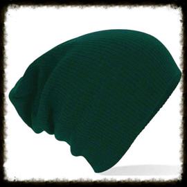 Unisex soft beanie green
