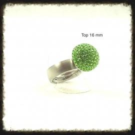 RVS ring voor verwisselbare tops - Maat 20