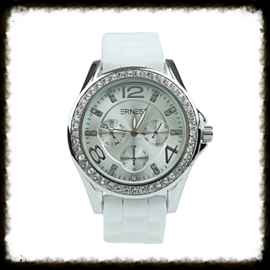 Horloge Ernest Stones Wit  HE-03