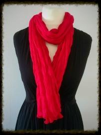 Katoenen twist sjaal rood TS-11