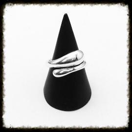 Zilveren Ring - maat 18  RZ-10