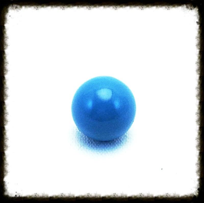 Klankbol turquoise 16 mm